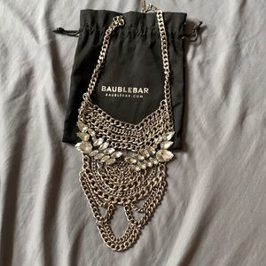 Heavy chain and crystal boho necklace.
